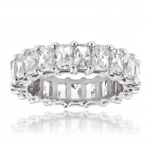 Platinum Radiant Cut Diamonds Eternity Band G/VS 6.6 Carat Anniversary Ring