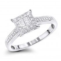 Pre-Engagement Rings: Diamond Promise Ring 0.34ct 10K