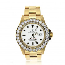Pre-Owned Rolex Yacht Master Men's Diamond Watch 18K Gold 5.6ct