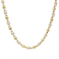 Real 14k Gold Mens Diamond Chain Necklace 16.81ct 30 inches