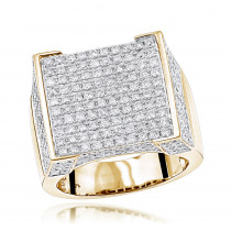 Real Hip Hop Diamond Ring 4.35ct