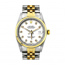 Rolex Datejust Diamond Watch for Men 0.1ct Stainless Steel and 18K Gold