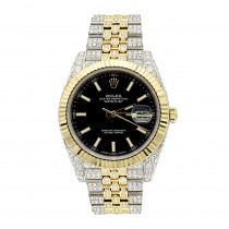 Rolex Datejust Diamond Watch for Men 12ct Two Tone 18k Gold & Steel