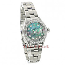 Rolex Datejust Ladies Custom Diamond Watch 2.50ct