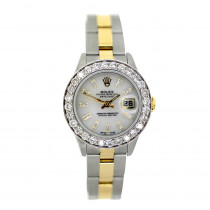 Rolex Datejust Ladies Diamond Bezel Watch 2.5ct