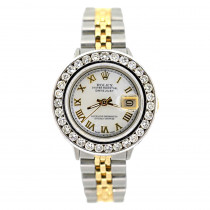 Rolex Datejust Womens Diamond Watch 2ct White MOP Steel and 18k Gold