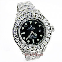 Rolex Sea Dweller DeepSea Mens Custom Diamond Watch 32.55ct