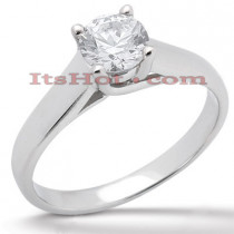 Round Diamond 18K Gold Engagement Ring 0.75ct