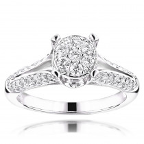 Round Diamond Engagement Ring 14K 1.16ct