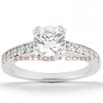 Round Diamond Platinum Engagement Ring 1.25ct