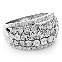 Round Diamond Women's Right Hand Ring 14k White Gold .35ct