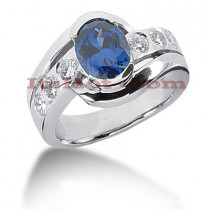 Sapphire Engagement Rings: Ladies Diamond Ring 0.60ctd 2cts 14K