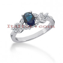 Sapphire Engagement Rings: Ladies Diamond Ring 14K 0.22ctd 0.75cts
