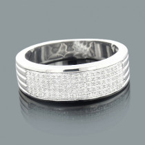 Silver Wedding Bands: Mens Diamond Ring 0.23ct