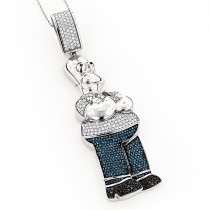 Simpson Charms 10K Homer Simpson Diamond Pendant 3.64