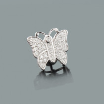 Single Butterfly Earring with Diamonds 0.23ct 10K Gold
