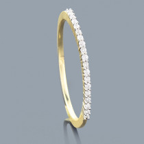 Ultra Thin Slim Round Diamond Wedding Band 0.10ct 14K