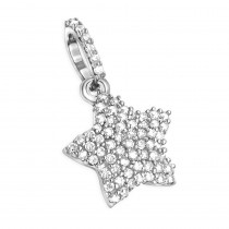 Small Diamond Star Pendant 14K 0.17ct