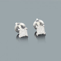 Small Diamond Stud Earrings 0.25ct Sterling Silver