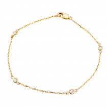 Solid 14K Gold  Diamonds by the Yard Bracelet for Women 0.15ct