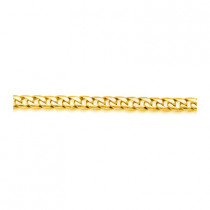 Solid 14K Yellow Gold Miami Cuban Link Chain 5 mm 24in-30in