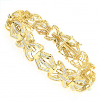 Modern Solid Gold Mens Baguette Diamonds Bracelet 7.95ct