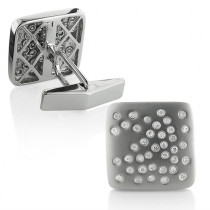 Square Mens Diamond Cufflinks 0.4ct 14K Yellow, Rose or White Gold