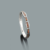 Ultra Thin Stack Rings: 14K Gold Red Diamond Ring 0.13ct
