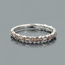 Ultra Thin Stackable Rings: Designer Red Diamond Band 14K 0.14ct