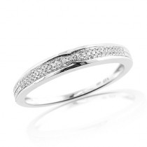 Thin Sterling Silver Mens Diamond Wedding Band 0.35ct