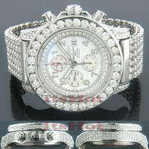 Super Avenger Breitling Diamond Watch for Men 35ctw