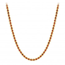 Unique 10K Gold Ruby Necklace for Women 10.5ct by Luxurman