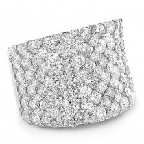 Unique Diamond Wedding Bands: 8 carat Ladies Pave Diamonds Ring 14k Gold