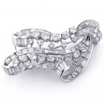 Vintage Fine Estate Jewelry: Ladies Platinum Diamond Brooch