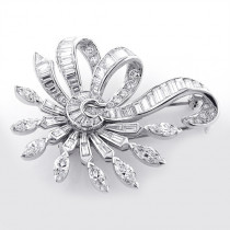 Vintage Fine Estate Jewelry: Vintage Platinum Diamond Brooch 6ct