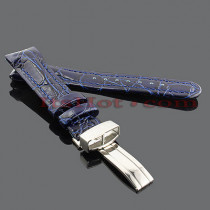 Watch Bands: Benny & Co Leather Watch Band 20mm Blue