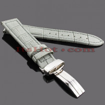 Watch Bands: Benny & Co Leather Watch Band 20mm Grey
