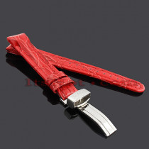 Watch Bands: Joe Rodeo Leather Watch Band 16mm Red