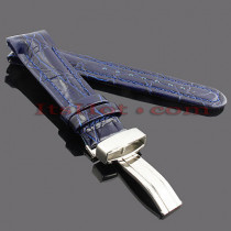 Watch Bands: Joe Rodeo Leather Watch Band 22mm Blue