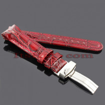 Watch Bands: Joe Rodeo Leather Watch Band 22mm Burgundy