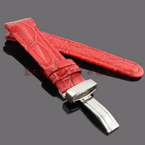 Watch Bands: Joe Rodeo Leather Watch Band 24mm Red