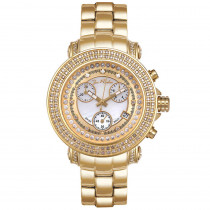 Womens Diamond JoJo Watch 1.25ct Yellow Gold White MOP