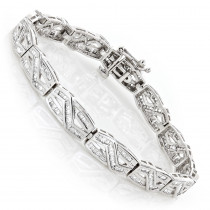 Womens Infinity Baguette Diamond Bracelet 2.84ct