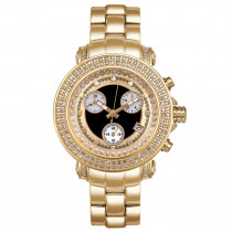 Womens JoJo Diamond Watch 1.25ct Yellow Gold Black MOP