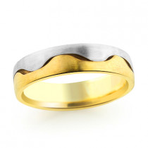 Yin Yang 14K Gold Wedding Band for Men
