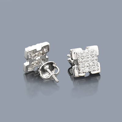 Designer Diamond Earrings 0.34ct 14K