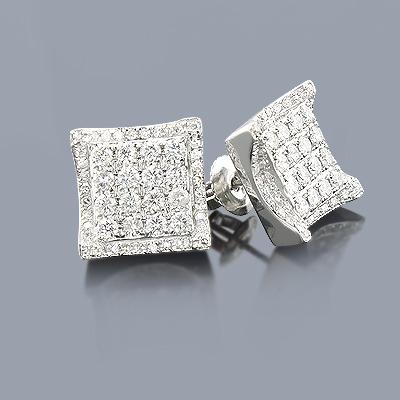 Designer Diamond Earrings 1.45ct 14K Gold