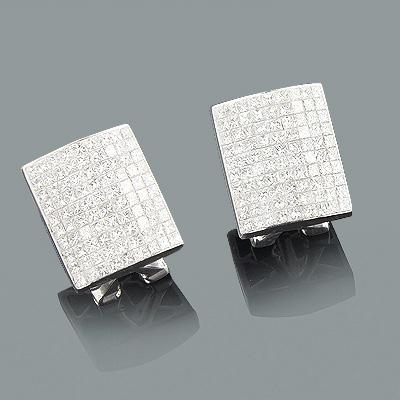Designer Diamond Earrings 2.94ct 14K Gold