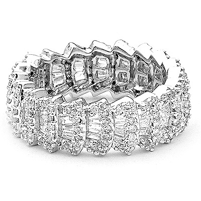 Designer Diamond Eternity Bands Collection Item 1.75ct
