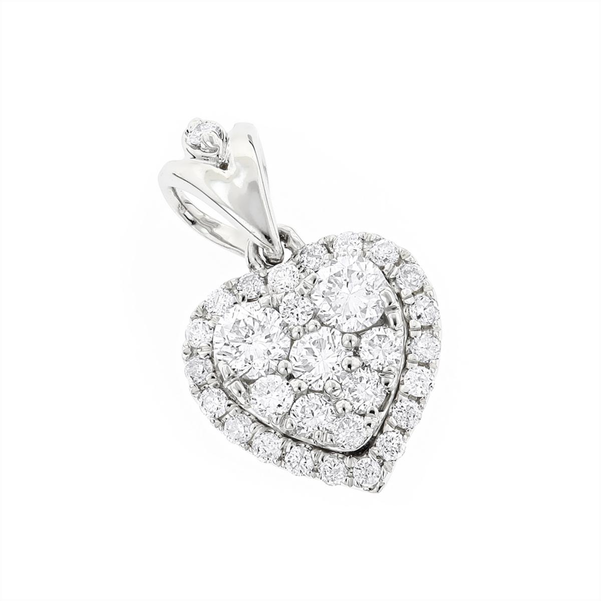 Designer Diamond Heart Pendant in 14k Gold 0.7ct G-H VS-SI Diamonds